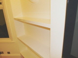 Gloss MDF shelves fitted