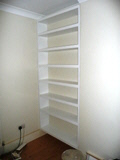 white white bookcase