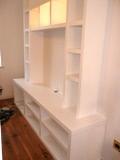white floating shelves in cambridge